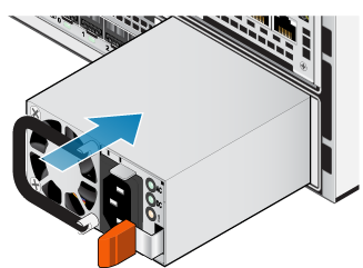 The power supply sliding back into the bottom node.