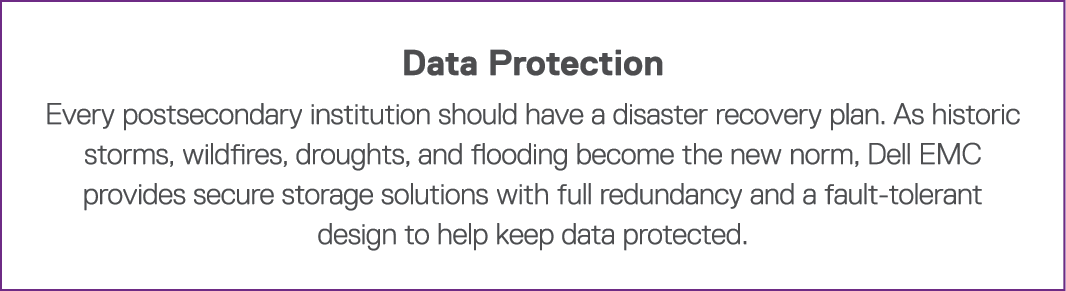 Data Protection Every postsecondary institution should have a disaster recovery plan  As historic storms, wildfires,