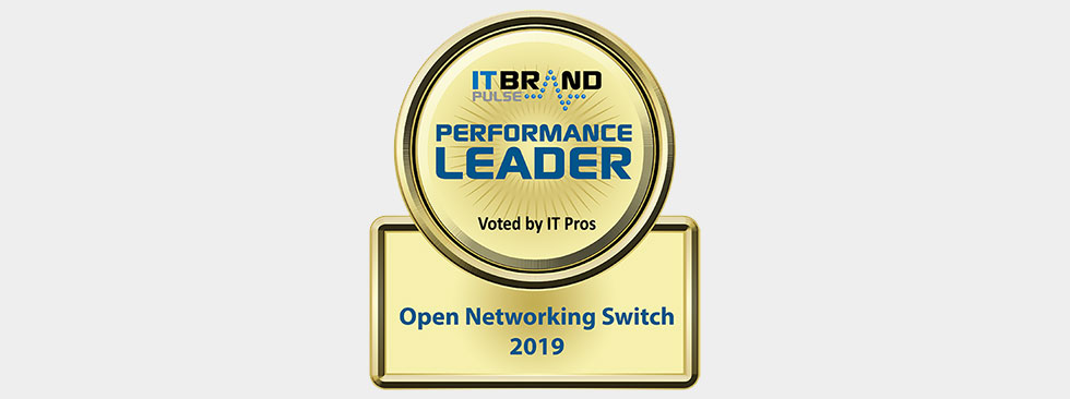 IT Brand Pulse 2019 Performance Leader: Open Networking Switch - Dell EMC