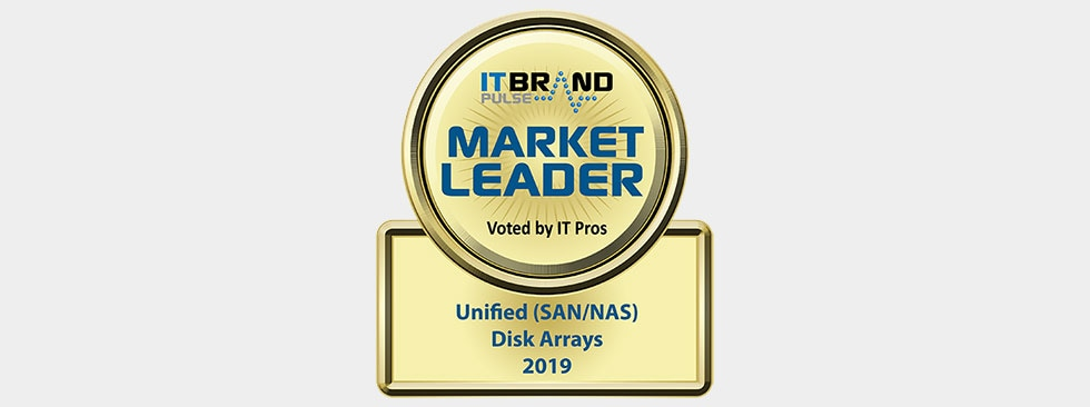 IT Brand Pulse 2019 Market Leader: Unified (SAN/NAS) Disk Arrays - Dell EMC